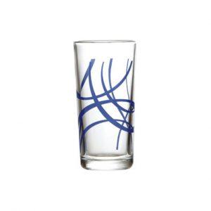 γυαλινο ποτηρι νερου με σχεδιο 260ml