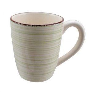 κουπα πορσελανης για καφε με πρασινες γραμμες