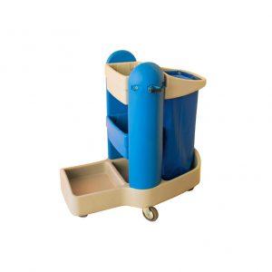 Τρόλεϊ καθαρισμού με σακούλα απορριμάτων και με δυνατότητα μεταφοράς ενός διπλού καροτσιού