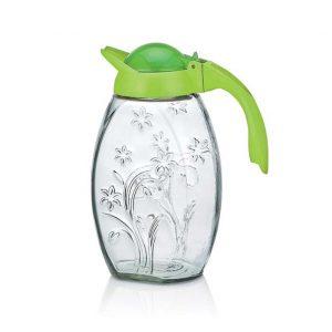 κανατα νερου γυαλινη με καπακι 1.7 λιτρα
