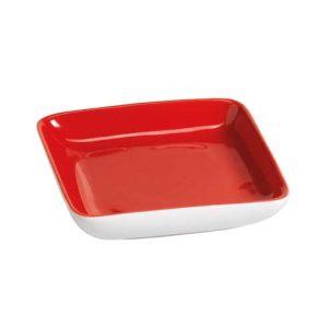 πιατελακι τετραγωνο κοκκινο