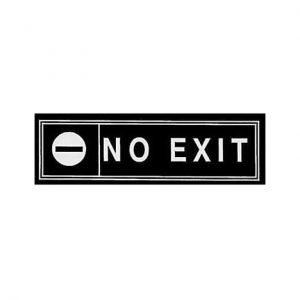 Πινακίδα-No-Exit-6x20cm