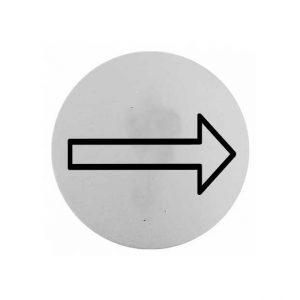 πινακιδα-inox-βελος-στρογγυλη