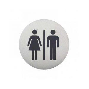 πινακιδα-inox-wc-γυναικων-στρογγυλη