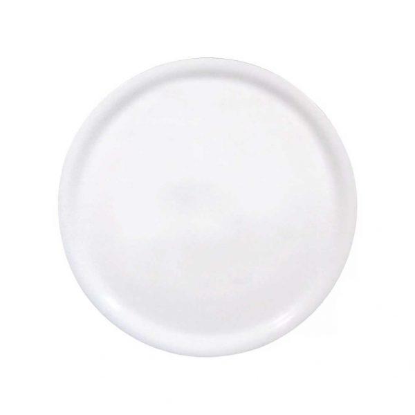 πιατο για πιτσα λευκο στρογγυλο πορσελανη
