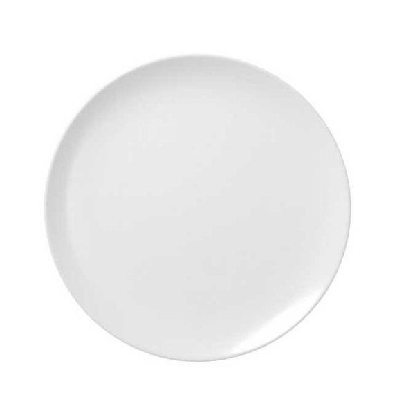 πιατο ρηχο πορσελανη λευκο στρογγυλο κουπ roseta