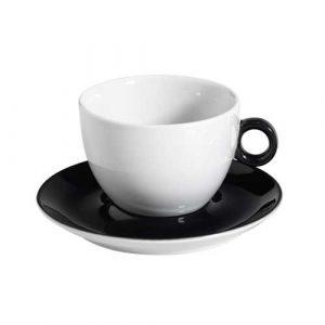 φλυτζανι-λευκο-με-μαυρο-χερουλι-και-μαυρο-πιατακι