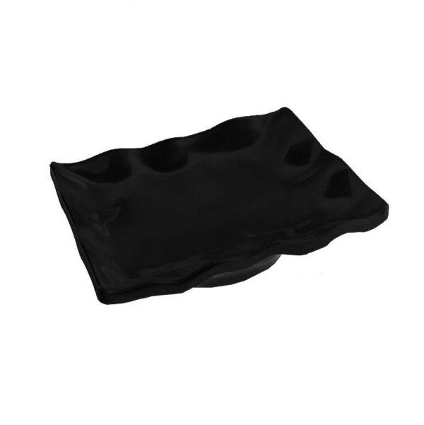 πιατελα μελαμινης μαυρη μοντερνα τετραγωνη