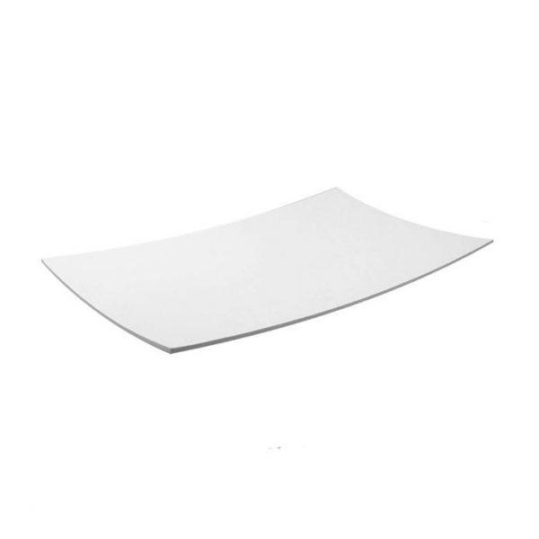 πιατελα μελαμινης ορθογωνια μοντερνα λευκη μεγαλη
