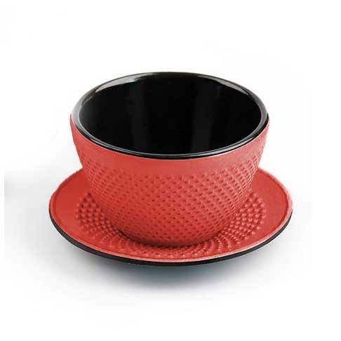 μαντεμενια κουπα με πιατακι κοκκινη