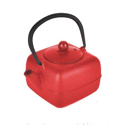 τσαγιερα μαντεμι κοκκινη τετραγωνη με φιλτρο 400ml