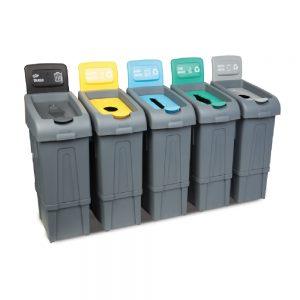 καδοι ανακυκλωσης σε διαφορα χρωματα