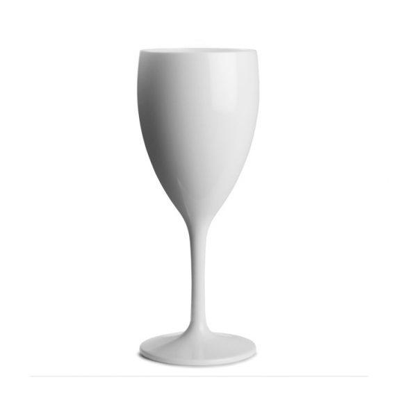 ποτηρι κρασιου λευκο πισινας πλαστικο πολλων χρησεων