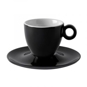 black espresso cup with saucer torino