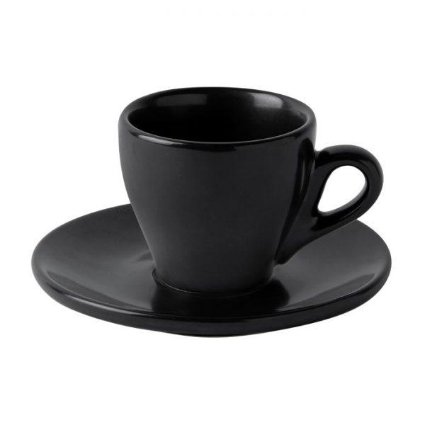 φλυτζανι μαυρο ματ με πιατακι για εσπρεσο μοντερνο du