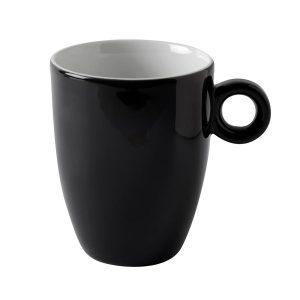 black modern mug