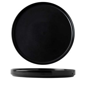 black rustic presentation plate