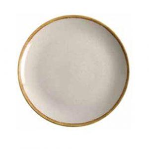modern dinner plate ivory