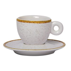 modern espresso cup with saucer ivory