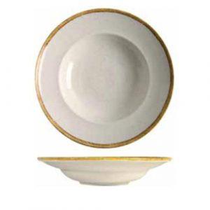 modern soup plate ivory