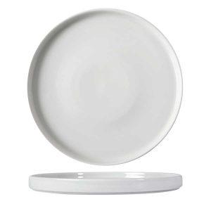 white rustic presentation plate